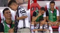 Momen Ronaldo Bercanda dengan Anak Kecil di Laga Juventus vs Tottenham