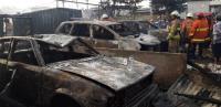Kebakaran Parkiran Mobil di Pademangan Berhasil Dipadamkan