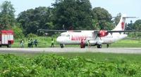 Roda Depan Rusak, Pesawat Wings Air Mendarat Darurat di Bandara Nabire