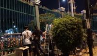 Pagar Pembatas Gedung DPR yang Rusak saat Demo Diperbaiki