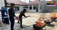 Sinergi dengan Kejaksaan, Bea Cukai Aceh Musnahkan Ribuan Barang Ilegal