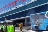 Bus Terbakar di Bandara Ngurah Rai Bali Diduga Akibat Mesin Rusak