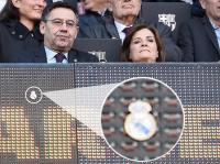 Duduk di Depan Logo Real Madrid, Presiden Barcelona Tak Sadar