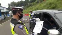 139 Kendaraan Diminta Putar Balik di Tasikmalaya
