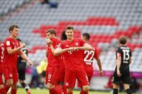Bayern vs Dusseldorf, Die Roten untuk Sementara Unggul 3-0 atas Tim Tamu