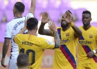 Vidal Bawa Barcelona Ungguli Valladolid di Babak Pertama