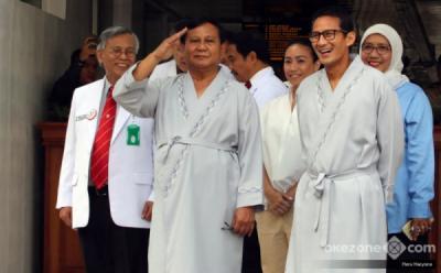 Prabowo-Sandi Temui Pimpinan PBNU