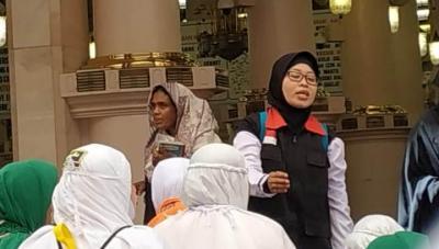 Inilah Perempuan Perkasa di Balik Perlindungan Jamaah di Raudhah