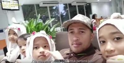 Cara Unik Irfan Hakim Kabarkan Kehamilan Istri kepada 4 Anaknya