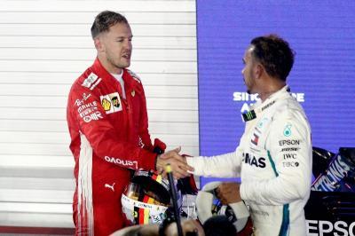Vettel Akui Hamilton Lebih Baik di F1 2018