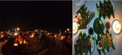 Makan Malam Romantis Bermenu Seafood di Pinggir Pantai Jimbaran