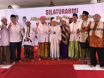 KH. Ma'ruf Amin Dapat Dukungan Penuh dari Ulama Se-Banten Selatan