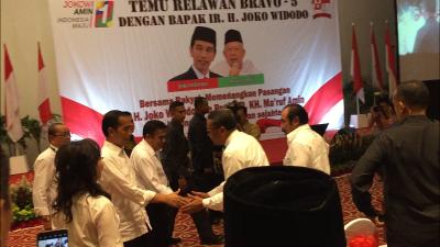 Jokowi Hadiri Acara Temu Relawan Bravo 5 di Ancol