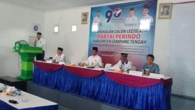 Bekali Caleg, Ketua DPW Perindo Lampung Minta Tak Umbar Janji