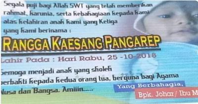 Viral Bayi Bernama Rangga Kaesang Pangarep, Doa Netizen: Semoga Jadi Juragan Pisang!