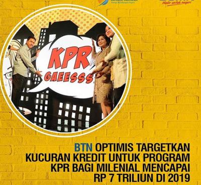 KPR Milenial Tersalurkan Rp1,7 Triliun dalam 3 Bulan
