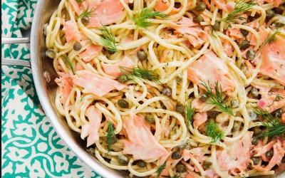Buat Anak Jangan Coba-Coba! yang Sehat Bikinkan Spaghetti Salmon