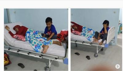 Bocah 9 Tahun Antar Ibunya yang Sakit Ginjal Sendirian, Netizen: Surga Milikmu Nak!