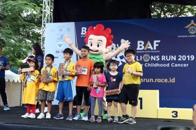 Ramaikan BAF Lions Run 2019, Karakter Kiko Hibur Ratusan Anak