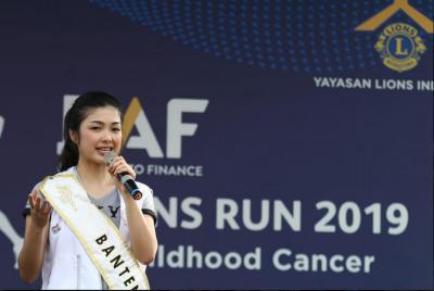 Runner-Up Miss Indonesia Ajak Masyarakat Peduli Kanker pada Anak