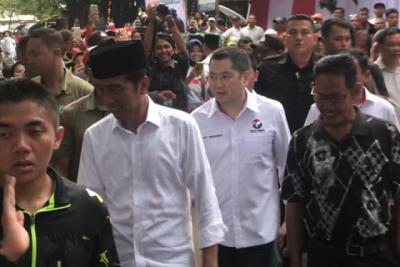 Hary Tanoe Dampingi Jokowi Kampanye Terbuka di Banyuwangi