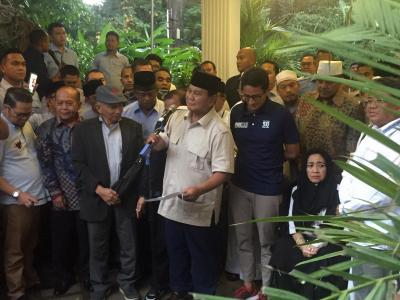 Rayakan Kemenangan, Prabowo-Sandi Ubah Lokasi Acara Sujud Syukur