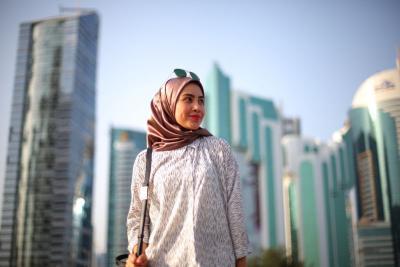 Tampilan Modest Wear Eye Catching Cocok untuk Rayakan Lebaran