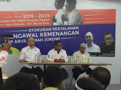 Bersama Hasto, ABJ Gelar Syukuran Kemenangan Jokowi-Ma'ruf Amin