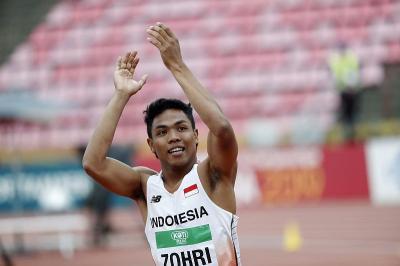 Lalu Muhammad Zohri Lolos Kualifikasi Olimpiade Tokyo 2020