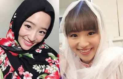 Haruka eks JKT 48 Pakai Hijab Tambah Kinclong Wajahnya