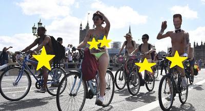 Kampanye Olahraga, Ribuan Pesepeda Bugil Keliling Kota di Inggris