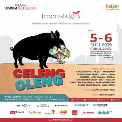 Pentas Indonesia ke-32 Bakal Tampilkan Lakon Celeng Oleng