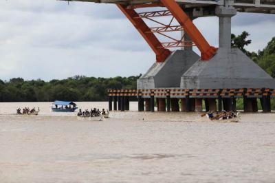 Balap Jukung di Sungai Kahayan Warnai Festival Budaya Isen Mulang 2019