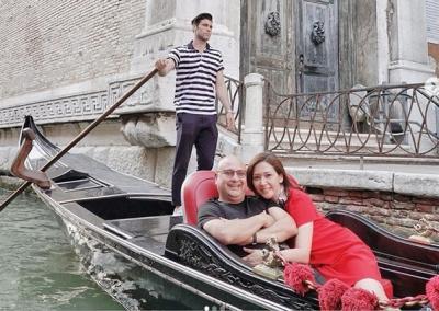 5 Foto Liburan Mesra Maia Estianty dan Irwan Mussry di Italia