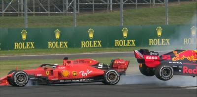 Sebastian Vettel Minta Maaf Usai Tabrak Max Verstappen