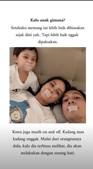 Andien Turut Plester Mulut Anaknya Sebelum Tidur, Awas Bahaya Ini Mengintai!