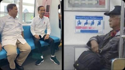 Viral Meme Pertemuan Jokowi dan Prabowo di MRT, Ternyata Ada 'Soeharto' Juga!