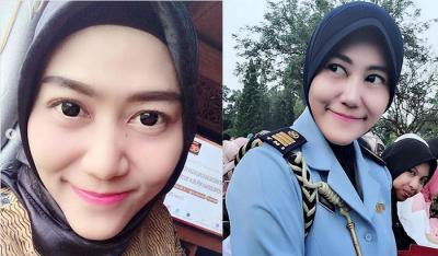 Potret Cantiknya Ajudan Iriana Jokowi, Sandhyca Putrie saat Pakai Hijab