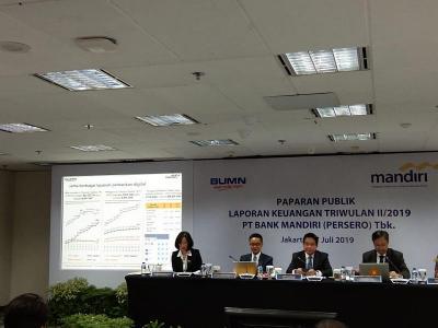 Laba Bersih Bank Mandiri Rp13,5 Triliun di Semester I-2019, Naik 11%