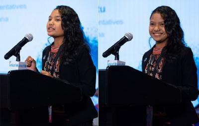 HAN 2019, Siswi Sumba Timur Suarakan Hak Anak di Forum PBB