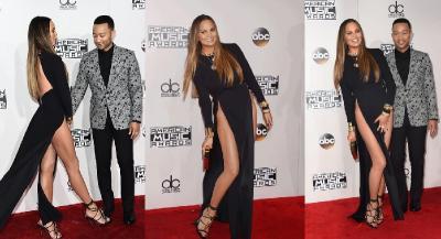 Reaksi Kocak Chrissy Teigen Ketahuan Tak Pakai Celana Dalam di Red Carpet