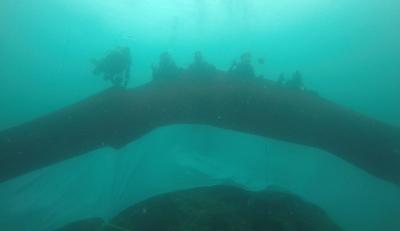10 Penyelam Bentangkan Bendera 74 Meter di Bawah Laut Papua Barat