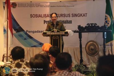Kepala BPN Soroti Profesi Penilai Tanah
