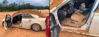 Cadillac Ini Rusak Parah Akibat Pertikaian Sepasang Kekasih