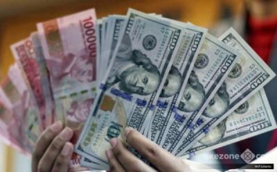Tekan Dolar, Rupiah Menguat ke Rp14.205 per USD