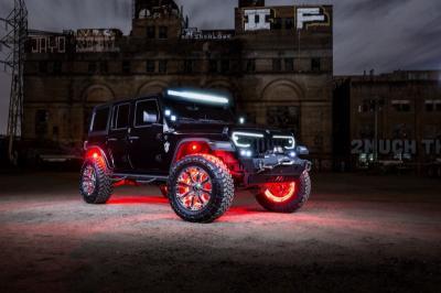 Lampu LED Bikin Jeep Wrangler Ini Seperti Mobil Hantu