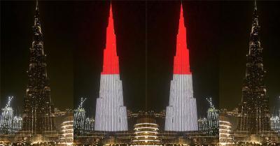 Bangganya Netizen Indonesia Merah Putih Selimuti Burj Khalifa