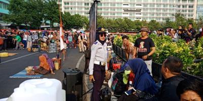 Dishub DKI Bubarkan Aksi Teatrikal Kekeringan Air di CFD