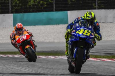 Tak Ada Hukuman untuk Marquez dan Rossi atas Insiden di Sirkuit Misano