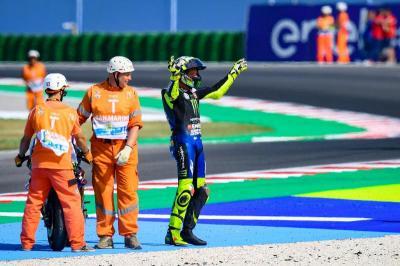 Rossi Kecewa Hanya Finis Keempat di Misano